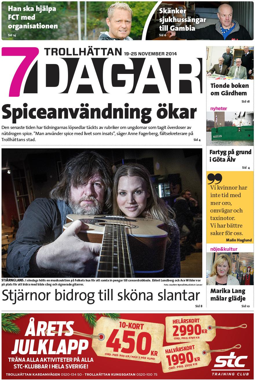 7 Dagar - Artikel onsdag 19 nov-2014 - Musik Mot Cancer