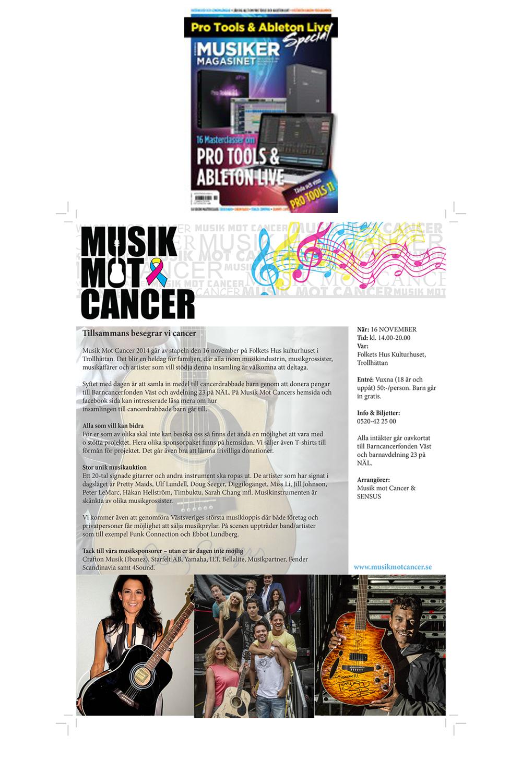 Musiker Magasinet - Musik Mot Cancer